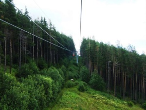 Cable Car on Black Peak, near Sofia