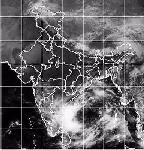 Satellite photo of tropical storm