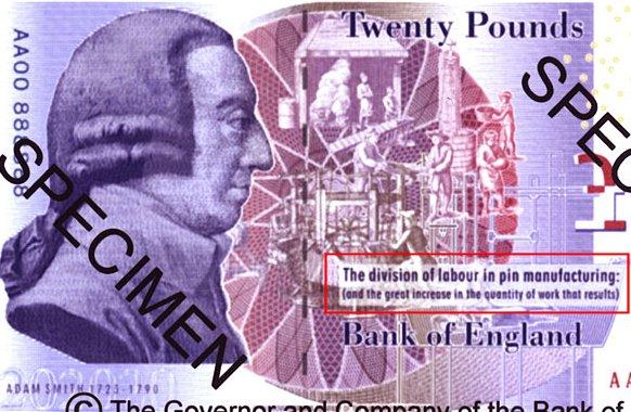 New Twenty Pound Note - Adam Smith